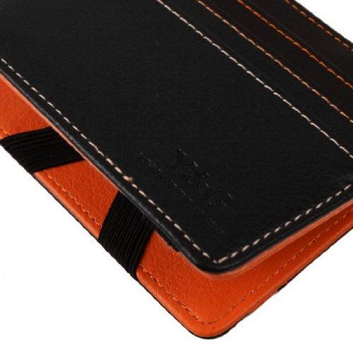 Magic Wallet Black Orange Fashion Leather