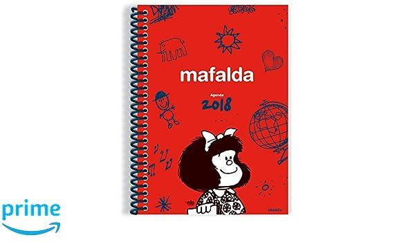 Granica Mafalda - Agenda anillada 2018, color rojo
