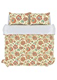 Stylemaster Home Products Colorfly Bella 210 Thread Count Duvet Cover Set, King, Melon