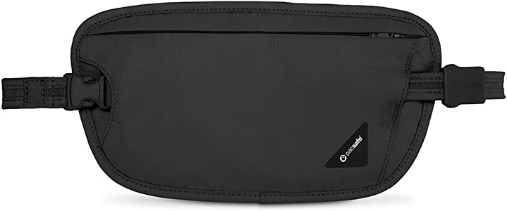 Pacsafe Coversafe X100 Anti-Theft RFID Blocking Waist Wallet, Black, One Size