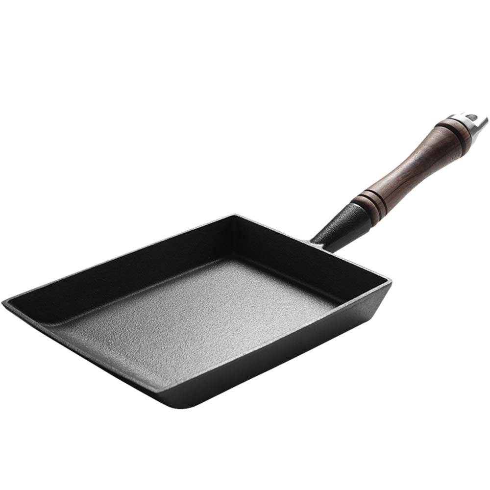 Baking tools Cast Iron Mini Frying pan, Breakfast Egg roll Omelette Non-Stick pan, Suitable for Gas Stove Induction Cooker, etc. ZDDAB