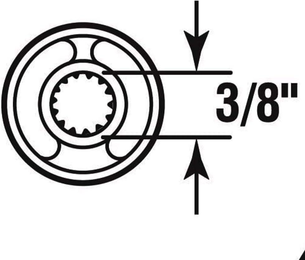 Window Crank Handle Durable Die Cast Construction Fits Anderson Casement Operators 3//8 in Spline Socket Stone Color