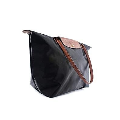 Amazon.com: Longchamp Le Pliage Large Shoulder Tote Bag in Black ...
