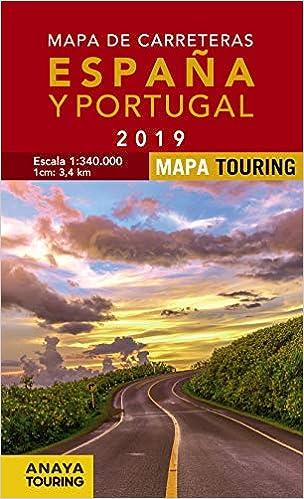 Mapa de Carreteras de España y Portugal 1:340.000, 2019 Mapa Touring: Amazon.es: Anaya Touring: Libros