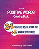 Positive Words Coloring Book (Volume 1)