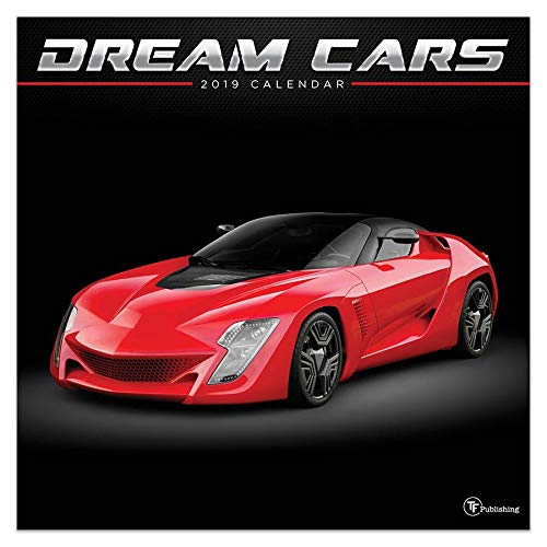 Cars Wall Calendar - 2019 Dream Cars Wall Calendar, Sports Car by TF Publishing