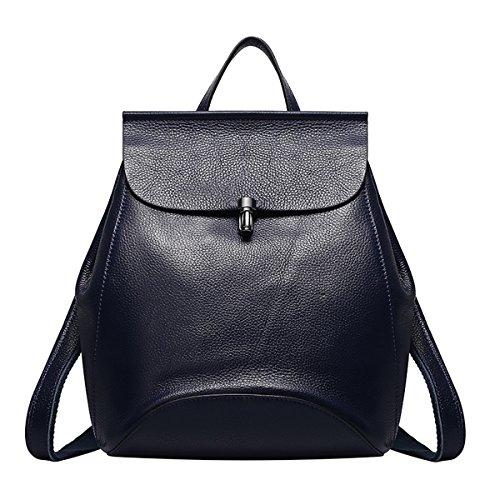 Blue Soft College Q0774 Bag Travel Backpacks School Leather Dissa Women Outdoor dark wF7fPqO6O