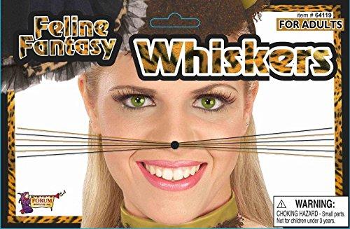 Forum Novelties 64119 Feline Fantasy Leopard Whiskers Party Supplies, One Size/Regular (Pack of 12)