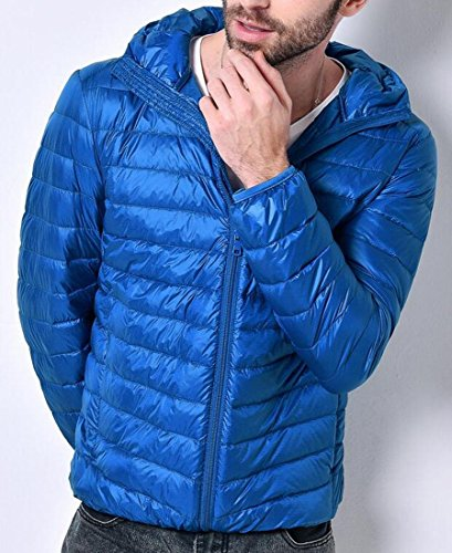 Reale Uniti Cappuccio M Cappotto Il Puffer Comfort Hoodie Stati Piumini Blu Eku Con Uomini UBvxOwqtn