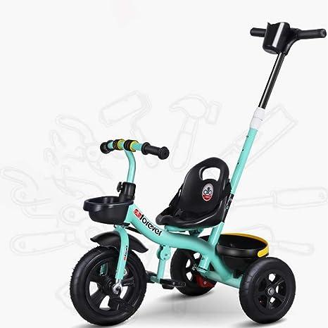 Aocean Niños Triciclo,Bicicleta Triciclo Infantil bebés a Partir de los 8 Meses, Control Parental Banda de Goma Ruedas de Gomas y Conducción Silenciosa Máx 30 kg, Green: Amazon.es: Deportes y aire libre