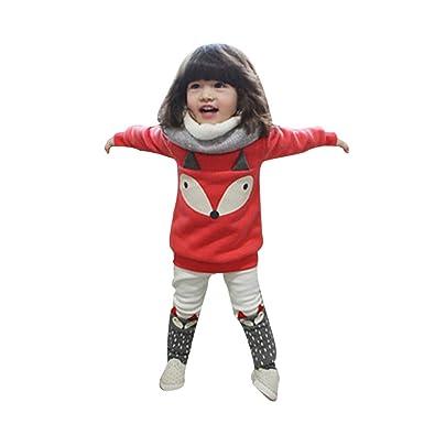 Covermason Bebé Niñas Lindo Zorro Impresión Manga Larga Camiseta y ...