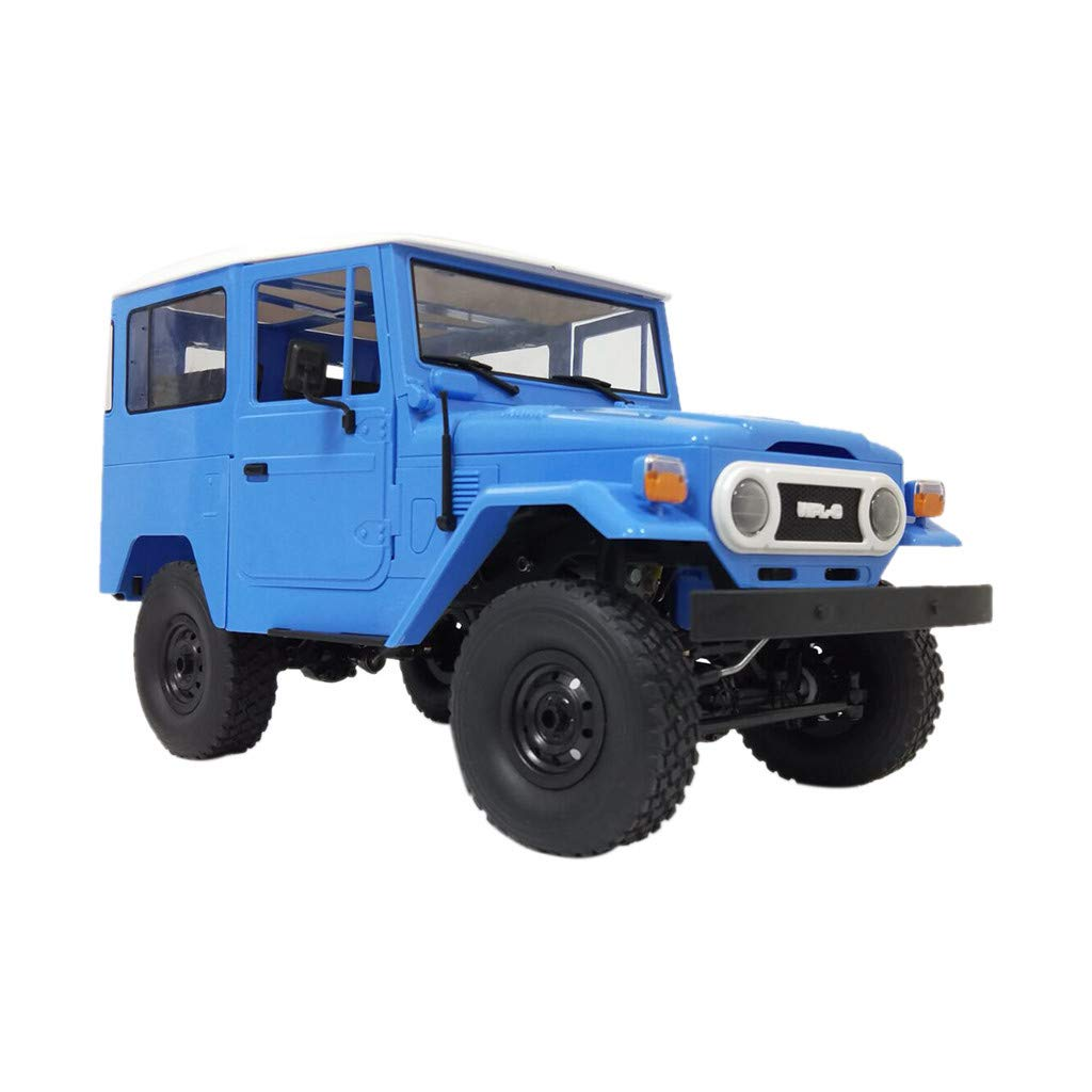 Hisoul Hot  WPL C34 Off-Road Vehicle Car 1/16 RTR 4WD 2.4G Military Truck Buggy Crawler Off Road RC Car for Car Enthusiast Best Gift (♥ Blue)