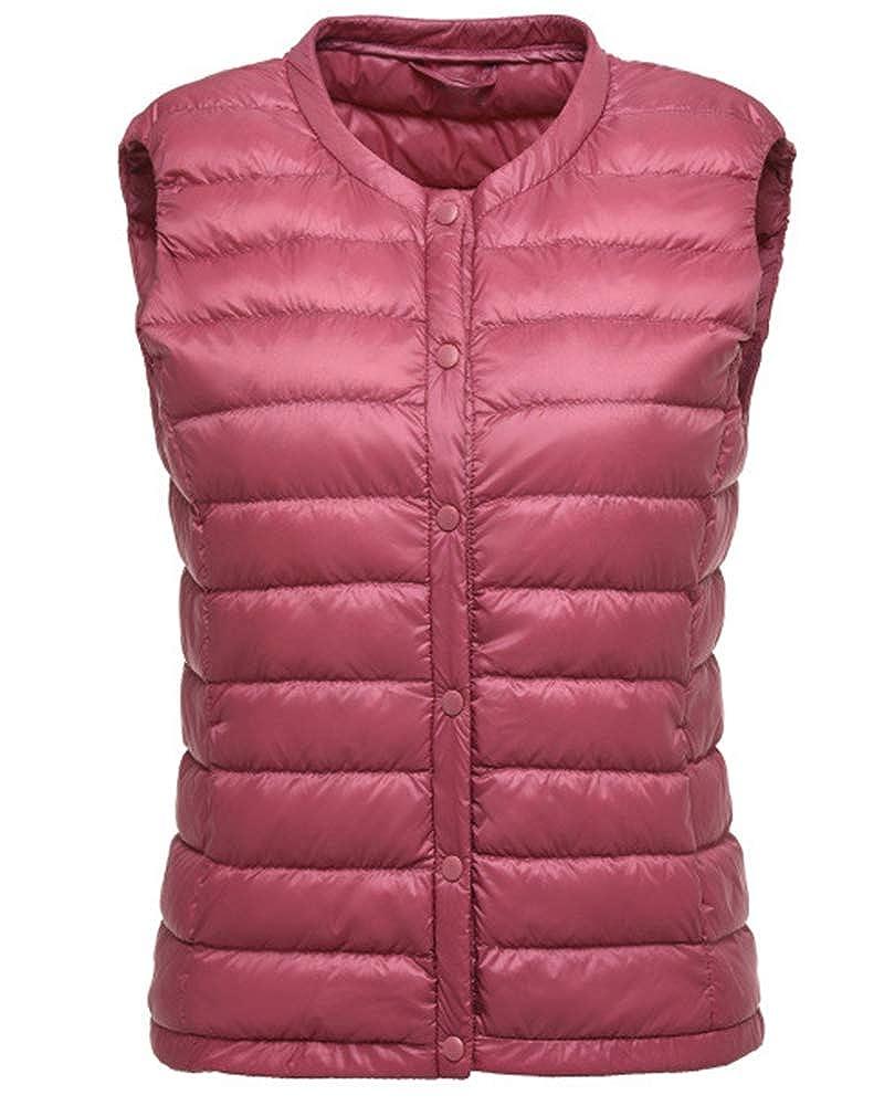 ZhuiKunA Giacche di Piuma Senza Maniche per Donna Invernali Giubbotto Cappotto Caldo Gilet Sportiva Packable