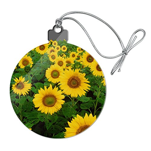 Graphics and More Field of Sunflowers Acrylic Christmas Tree Holiday Ornament