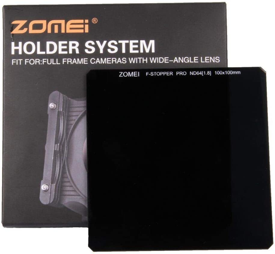 ZOMEI 100 100mm Optical Glass ND64 6-Stop Neutral Density HD Square filter ND64