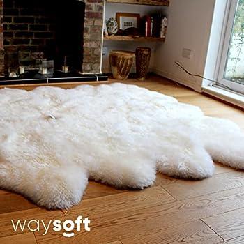 Amazon Com Bowron Longwool Sheepskin Rug Sexto Ivory