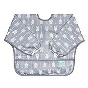 Bumkins Baby Toddler Bib, Waterproof Sleeved Bib, Arrow (6-24 Months)