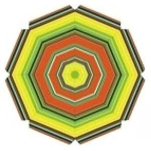 Sombrilla rayas de colores 200 cm Pantalla en naranja - amarillo - verde