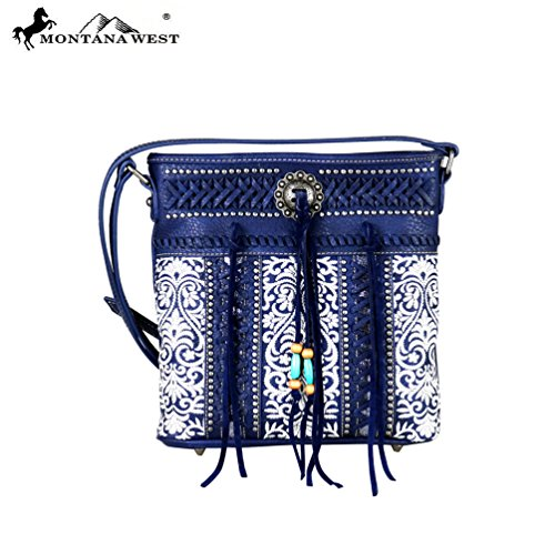MW343-8287 Montana West Concho Collection Crossbody - Collection Concho