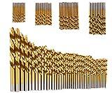#6: Contineo 99pcs/Set Titanium Coated HSS High Speed Steel Drill Bit Set Tool Size 1.5mm - 10mm Drill Bit For Wood Plastic Aluminum