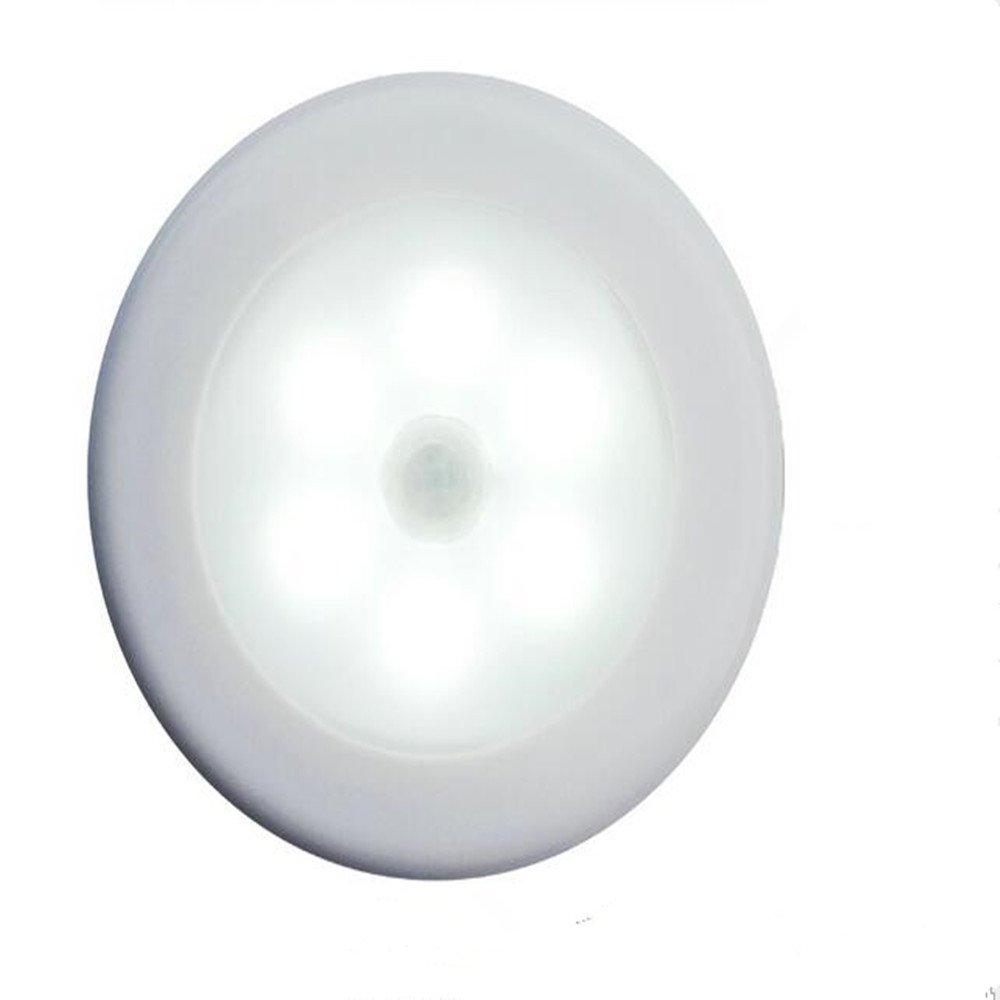 Motion Sensor Light, TongJi Battery-Powered Motion Sensor LED Night Light, wireless led Touch Tap Push Light for Hallway, Closet, Stairs, Bedroom, Nursery (White)