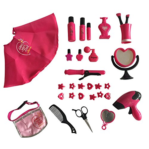 (The New York Doll Collection 30 PC Doll Hair Care set - Includes Doll Cape and Waist Belt - Deluxe Hair Styling set for 18-inch Dolls)