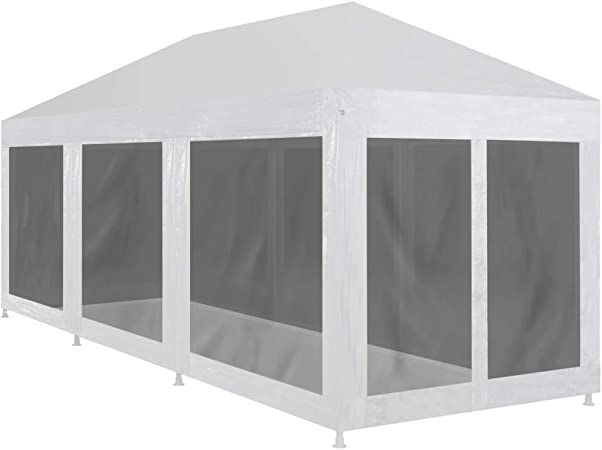 vidaXL Tente de Réception 8 Parois en Maille 9x3 m Jardin ...