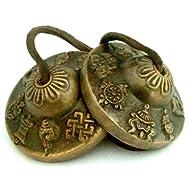 Tingsha Tibetan Bell (Chimes) Buddhist Lucky Symbols (Medium)