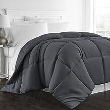 Beckham Hotel Collection 1300 Series - All Season - Luxury Goose Down Alternative Comforter - Hypoallergenic -Full/Queen - Gray