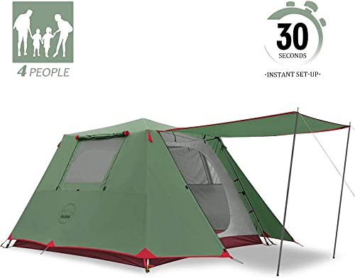 KAZOO Family Camping Tent Large Waterproof Pop Up Tents 4 6 8 Person Room Cabin Tent Instant Setup
