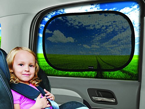 Enovoe Car Window Shade  4 Pack  21x14 Cling Sunshade for Car Windows  Sun Glare and UV Rays