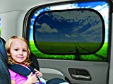 "Car Window Shade - (3 Pack ) - 21""x14"" Cling Sunshade For Car Windows - Sun, Glare And UV Rays Protection For Your Child - Baby Side Window Car Sun Shades By Enovoe"