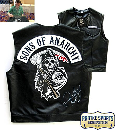 "Ryan Hurst ""Opie Winston"" Autographed/Signed Officially Licensed Sons of Anarchy Reaper Logo Biker Vest with ""Opie"" Inscription"