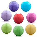 (Price/8 PCS)Assorted Color Chinese Paper Lantern, 12 Inches In Diameter, Halloween Party Favors