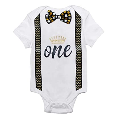 73a18271c75ec Esclusive Cotton First Birthday White Baby Romper (Gold, 12-18 Months):  Amazon.in: Clothing & Accessories