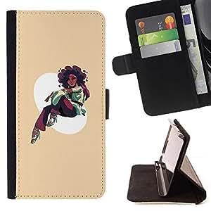 Momo Phone Case / Flip Funda de Cuero Case Cover - Afro Chica - LG G3