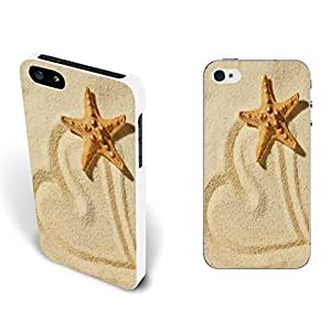 Full Cover Protective Iphone 5 5s Custom Design Hard Plastic Animal Pattern Phone Cases for Guys (starfish BY421)