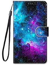 Miagon Full Body Wallet Case for Samsung Galaxy A21,Colorful Pattern Design PU Leather Flip Cover with Magnetic Closure Stand Card Slot,Cloud