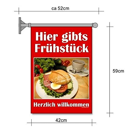 Frühstücks-fahne Aquí Gibts Desayuno A2 Bandera Panadería ...