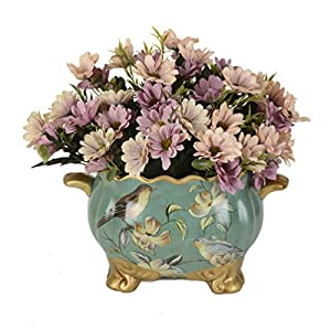 1 Bounquet Artificial Gerbera Daisy Artificial Flowers for Home Decor without Vase & Basket, 1 Flower, Beige 49