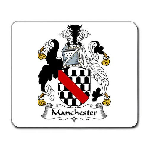 Manchester Family Crest Coat of Arms Mouse Pad ()