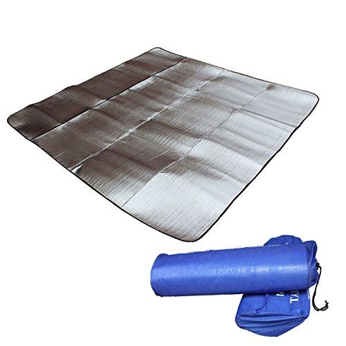 elegantstunning extérieur en Aluminium Membrane imperméable Moistureproof Tapis de Tente de Camping Tapis de Plage
