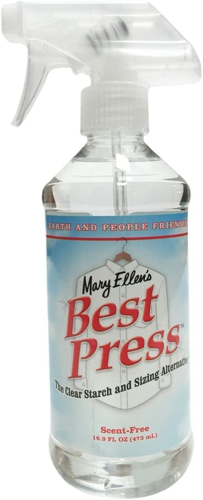 Mary Ellen Products Clear Sizing Alternative Starch, Scent Free, 16 Fl Oz