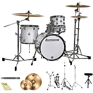 ludwig breakbeats by questlove 4 piece starter drum set with sabian cymbals and. Black Bedroom Furniture Sets. Home Design Ideas