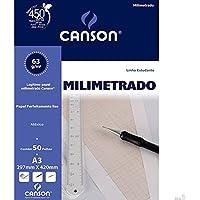 Bloco Milimetrado A3 C/ 50 Fls 29,7x42cm 66667084 Canson