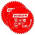 "Freud D0740PX Diablo 7-1/4"" 40T Finish/Plywood 5/8"" Arbor Saw Blade, 2-Pack"