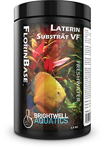 Brightwell Aquatics FlorinBase Laterin Substrat VF, Very Fine, High Porosity Clay Base Substrate for use in Planted and Freshwater Shrimp biotope Aquaria, 1.4 KG ()