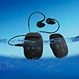 Guaranty 8GB Waterproof Mp3 music player with water resistant Headphones for Underwater Swimming, Running,Winter Sports [with waterproof earphone]