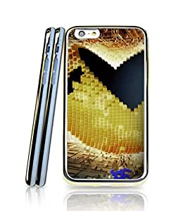 Cool Funda Case For Iphone 6s, Film - Pixels (2 in 1 Hybrid Dual Layer) Aesthetic + Creative Golden Bordered Ultra Thin Personalized Design Colorful Paint Suitable For Iphone 6 / 6s [4.7 inch]