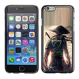 Impact Case Cover with Art Pattern Designs FOR iPhone 6 Eclipse warrior Japanese Samurai Betty shop